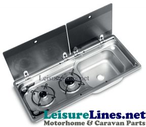 9722 Compact 2 Burner Hob Right Sink Combination Unit